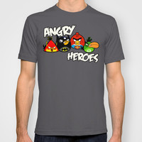 Angry Heroes (Angry Birds as DC Comics Characters) T-shirt by Olechka