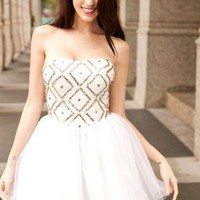 """Center of Attention"" princess style all white formal ."