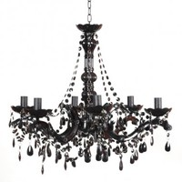 Buttress 6-arm Black Chandelier