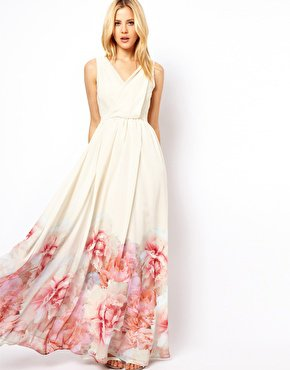 Floral Maxi Dress on Mango Floral Hem Maxi Dress At Asos Com On Wanelo