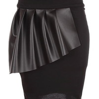 Fanned Leather Skirt | Women&#x27;s Bottoms | RicketyRack.com