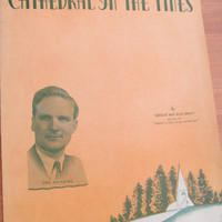 1938 sheet music, Cathedral in the pines, Irving Berlin Inc
