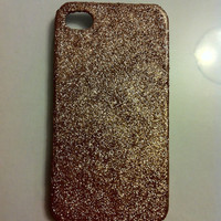 Bronze Glitter Iphone 4 4s Hard Case by kaylafenton on Etsy