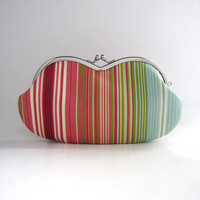 Frame sunglasses case/ Clutch Purse- rainbow stripe