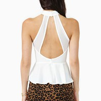 High Places Peplum Top - White