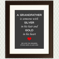 Father's Day Gift for Grandfather - Personalized Quote for father, dad, granddad, grandfather, grandpa with a special quote