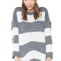 Brandy ♥ Melville |  Sage Striped Sweater