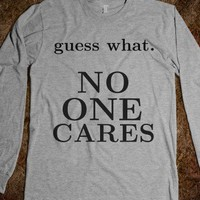 No one cares - Volleyball - Skreened T-shirts, Organic Shirts, Hoodies, Kids Tees, Baby One-Pieces and Tote Bags
