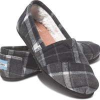 Black Plaid Wool Women's Classics | TOMS.com
