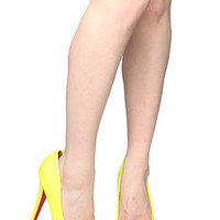 *Sole Boutique The Patent Leather Dolls Pump in Neon Yellow : Karmaloop.com - Global Concrete Culture