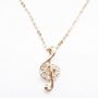 Music Symbol Diamond Necklace