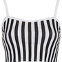 Vertical Stripe Bralet Top - Jersey Tops - Clothing - Topshop USA