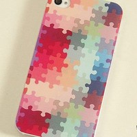 Colorful Puzzle Print Case For iPhone 4 / 4S / 5 from Emerald Sea