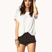 Studded Sleeve Tee | FOREVER21 - 2052109326