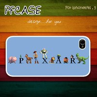 Pixar with toy story : Handmade case For Iphone 4/4s ,5