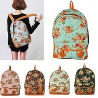 Floral Vintage Canvas Backpack