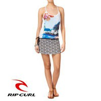 Rip Curl Blue Artist Dress - Optical White
