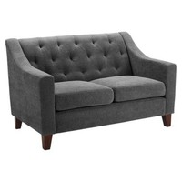 Tufted Loveseat - Gray