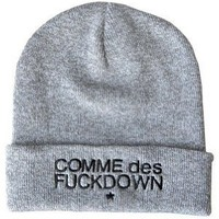 Style Hip-hop Chic Ssur Comme Des Fuckdown Knitting Wool Beanie Hat Snap Back Grey