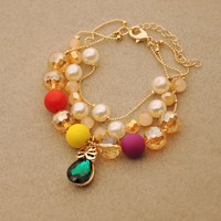 Bohemia Style Colored Beaded Strand Charm Bracelet for Women - Bracelets - Jewelry Free Shipping