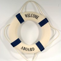 "20"" SHIP LIFE RING NAUTICAL WALL DECOR"