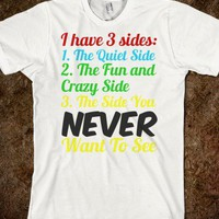 3 Sides - M&amp;M Designs - Skreened T-shirts, Organic Shirts, Hoodies, Kids Tees, Baby One-Pieces and Tote Bags