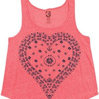 Billabong Bandana Hearts Tank - Coral Kiss - J4212BAN				 | 
