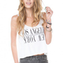 Brandy ♥ Melville |  Mirella LA/NY Tank - Graphic Tops - Clothing