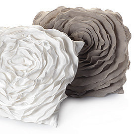 18%u201D Glamorous Natural Floret Pillow | Bedding & Pillows | Z Gallerie