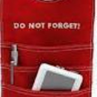 Amazon.com: Do Not Forget - Door Orgainzer. Red: Home & Kitchen