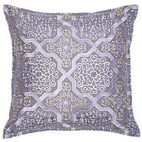 Exquisite Gray & Orchid Mediterranean Pillow | Bedding & Pillows | Z Gallerie