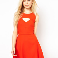 French Connection Cut Out Fit And Flare Dress at asos.com