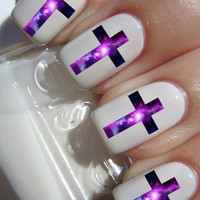 Galaxy Cross Nail Decals