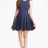 dee elle Print Skater Dress (Juniors) | Nordstrom