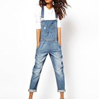 ASOS Vintage Wash Dungarees at asos.com