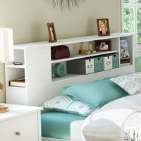 Walmart: South Shore Vito Full/Queen Bookcase Headboard, White