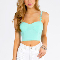 Wonder Floral Crop Bustier $28