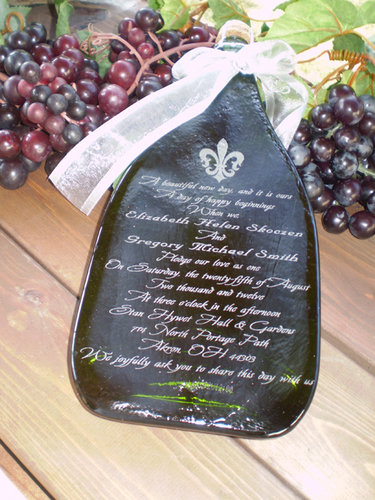 Engraved Wine Bottles For Wedding Gift : Engraved Wedding Invitation Champagne from sterlingwineonline