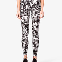 Tribal Print Leggings | FOREVER21 - 2023197071