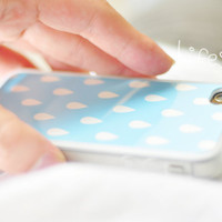 Apple iphone  case for iphone  iphone 4  iphone 4s : Pastel rain drop pattern with soft iPhone case