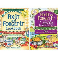 Fix-It and Forget-It Set of 2 Cookbooks by Phyllis Good  QVC.com