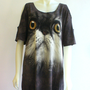 Surprised Cat Shoulder Peekaboo TeeDress