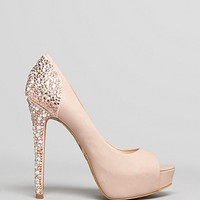 Boutique 9 Pumps - Cary Platform Glitter Back | Bloomingdale&#x27;s