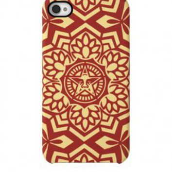 incase x shepard fairey - iphone 4/s snapcase: yen pattern (red) - Incase | 80's Purple