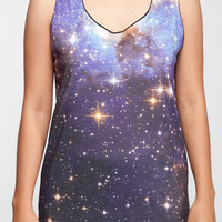 Cosmic Galaxy Shirt Star Light Planet Nebula Tank Top Women Shirts Black Shirt Tunic Top Vest Sleeveless Women T-Shirt Size S M