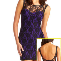 Charlotte Russe - Pop-Lining Lace Dress