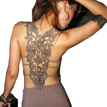 Krazy Sexy Club Cocktail Party Evening Dress #2010 Coffee US Size 0-6