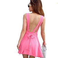 Krazy Sexy Club Cocktail Party Evening Dress #201 Pink S M L