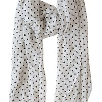 Dots of Adoration Scarf, Black