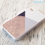iphone 4 case  grey color block with wood print by BlissfulCASE